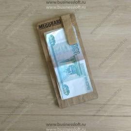 Планшет с деревянным зажимом для счета и денег в ресторане