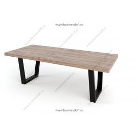 Стол в стиле лофт с U-образным усиленным подстольем