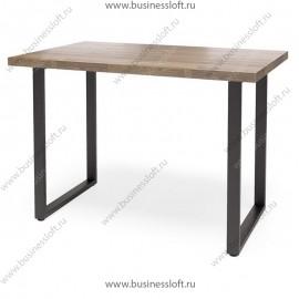 Стол в стиле лофт с О-образным подстольем