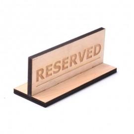 Табличка Reserved для кафе