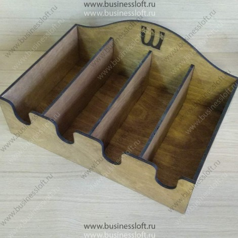 Коробка накопитель для чайных пакетиков 4 отделения