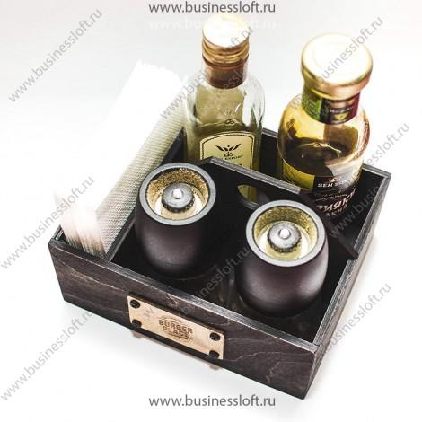 Деревянный органайзер для кофейни