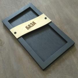 Деревянный чек бук для ресторана в стиле лофт