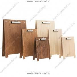 Деревянный меню-холдер штендер с зажимом