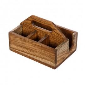 Ящик для сервировки деревянный с отделением для соли и перца