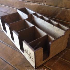 Органайзер для чайных пакетиков и салфеток на барную стойку