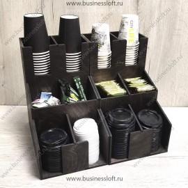 Органайзер для кофейных стаканчиков горка на 12 отделений