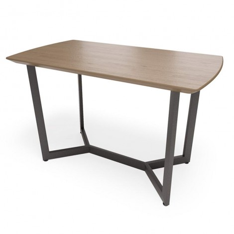 Стол в стиле лофт с M-образным подстольем