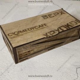 Чек-бук для ресторана стилизованный под армейский ящик