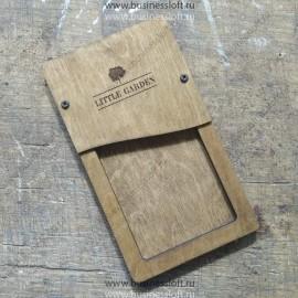 Чек-бук из дерева для ресторана