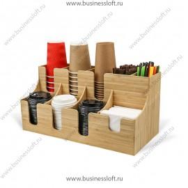 Подставка для бумажных стаканов, трубочек и крышек на 9 отсеков