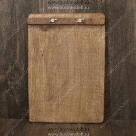 Деревянное меню-планшет с зажимом барашками