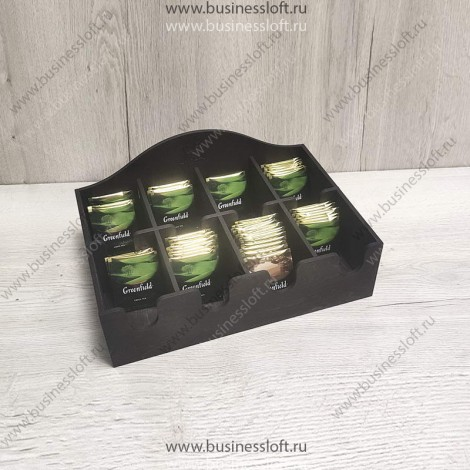 Коробка накопитель для чайных пакетиков 8 секций