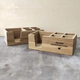 Ящик для сервировки деревянный с отделением для салфеток, соли и перца